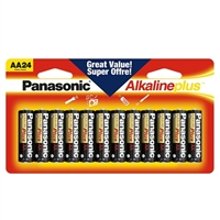 Panasonic Alkaline Plus AA Battery - 24 pack
