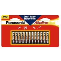 Panasonic Alkaline Plus AAA Battery - 24 pack