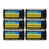 Panasonic CR123A Lithium Battery - 6 Pack