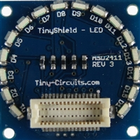 Tiny Circuits TinyShield 16 Edge LEDs - Amber