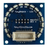 Tiny Circuits TinyShield 16 Edge LEDs - Red