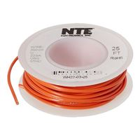 NTE Electronics WH22-03-25 Hook Up Wire, Stranded, Type 22 Gauge, 25' Length, Orange
