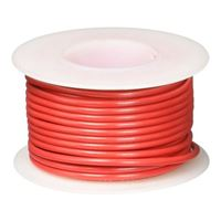 NTE Electronics WH18-02-25 Hook Up Wire, Stranded, Type 18 Gauge, 25' Length, Red