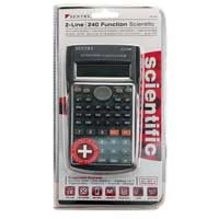 Sentry Industries Deluxe 240 Function Scientific Calculator - Silver