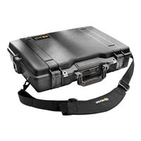 "Pelican Laptop Case w/ Foam Fits Screens up to 17"" - Black"