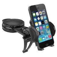 MacAlly Grip Clip Adhesive Dashboard Phone Mount - Black