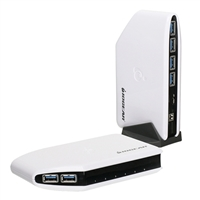 IOGear 6 Port SuperSpeed USB 3.1 Gen 1 Hub - White