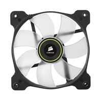 Corsair Air SP120 High Static Pressure Green LED Hydraulic Bearing Case Fan - Twin Pack