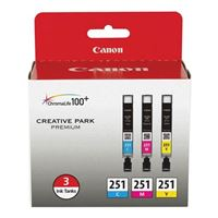 Canon CLI-251 Color Ink Cartridge 3-Pack