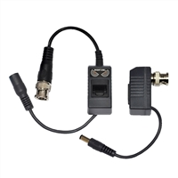 Night Owl 1-Pair Passive Video Balun Converters with power for Security CCTV systems - A-VB-POE-BNC
