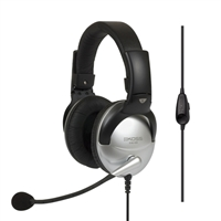 Koss SB49 Full Size Communication On Ear Headsets - Silver/Black