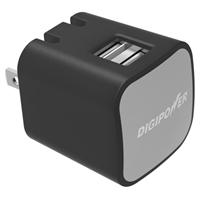 Digipower 3.4 A Dual USB Type-A Wall Charger - Black