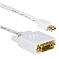 QVS Mini DisplayPort to DVI-D Video Cable 15 ft. - White