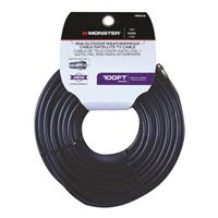 Just Hook It Up Coax Male to Coax Male RG6 Coaxial Cable 100 ft. - Black