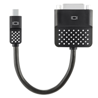 Belkin Mini DisplayPort Male to DVI-D Male Adapter 5 in. - Black