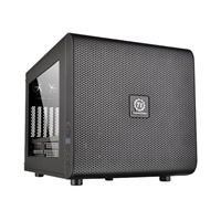 Thermaltake Core V21 microATX Mini-Tower Computer Case - Black
