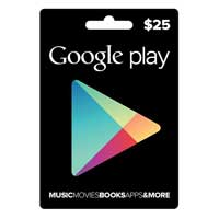 InComm Google Play Gift Card - $25