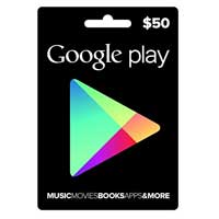 InComm Google Play Gift Card - $50