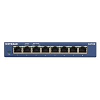 NetGear 8-Port Gigabit Ethernet Unmanaged Switch (GS108) - Desktop,...