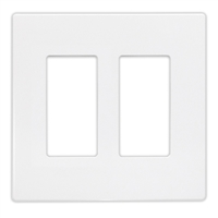 Insteon Double Wall Plate - White