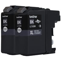 Brother LC103XL Black Ink Cartridge Value Pack