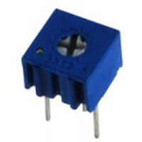 NTE Electronics Trimmer 100KOhm Single Turn Cermet 1/4in Square Top Adjust 10% Tolerance 1/2 Watt Sealed