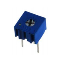 NTE Electronics Trimmer 1K Ohm Single Turn Cermet 1/4in Square Top Adjust 10% Tolerance 1/2 Watt Sealed