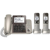 Panasonic Corded/Cordless DECT 6.0 Phone with Two Handset and Answering System