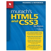Mike Murach & Assoc. Murach's HTML5 and CSS3, 3rd Edition