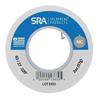 SRA Soldering Products No-Clean Flux Core Solder Sn63/Pb37 - 2 Ounce Spool