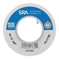 SRA Soldering Products No-Clean Flux Core Solder Sn63/Pb37 - 4 Ounce Spool