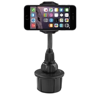 MacAlly Grip Clip Cup Holder Phone Mount Extra Long Adjustable - Black
