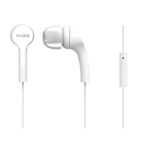Koss KEB9iW Noise Isolating Ear-Buds w/ In-Line Microphone - White