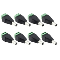Avue DC Male 2.1 x 5.5mm Power Connector (8 Pack)