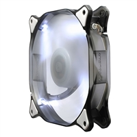 H.E.C. Cougar White LED Hydraulic Bearing 120mm Case Fan