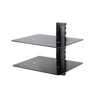 AVF Two Shelf Wall Mounted AV Component Shelving System