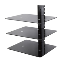 AVF Three Shelf Wall Mounted AV Component Shelving System