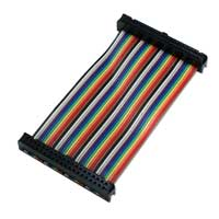 "QVS 4"" GPIO Ribbon Cable for Raspberry Pi A/B/Pi 2 (40 Pins)"