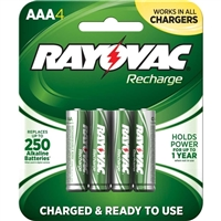 Rayovac Ready to Use Rechargeable AAA Batteries 4-Pack