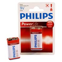 Philips PowerLife 9V Alkaline Battery