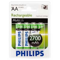 Philips Rechargeable AA Battery - 4 Pack