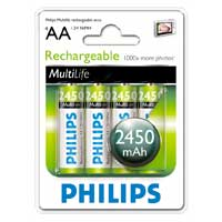 Philips MultiLife Rechargeable AA Battery 4 Pack