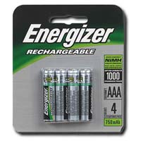 Energizer Rechargeable AAA Battery 4 Pack