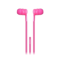 iEssentials Stereo Ear Buds w/ Mic - Pink