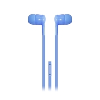 iEssentials Stereo Ear Buds w/ Mic - Blue