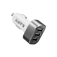 Laut Power Dash 3-Port Car Charger for iPhone & iPad - White