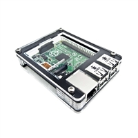 C4Labs Zebra Raspberry Pi B/2B Case - Black Ice