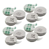 Master Magnetics Magnets with Adhesive Back N/S .325 12 Pieces