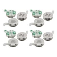 Master Magnetics Magnets with Adhesive Back N/S .25 wide 12 pieces
