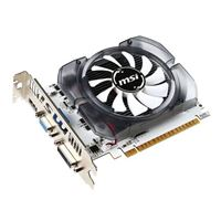 MSI NVIDIA GT 730 N730-4GD3V2 Single-Fan 4GB DDR3 PCIe 2.0 Graphics Card